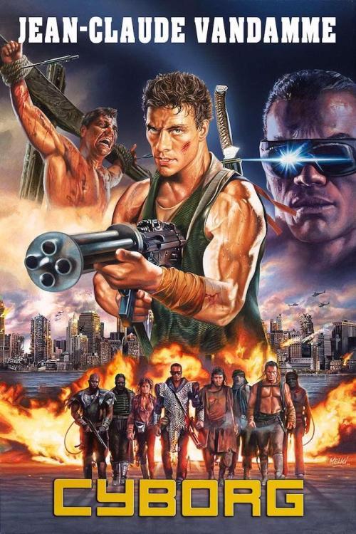 The Actioneer Cyborg Albert Pyun 1989 Best Movie Posters Classic Movie Posters Action Movie Poster