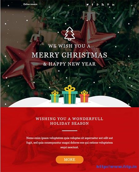 Best Christmas  New Year Email Templates   Email