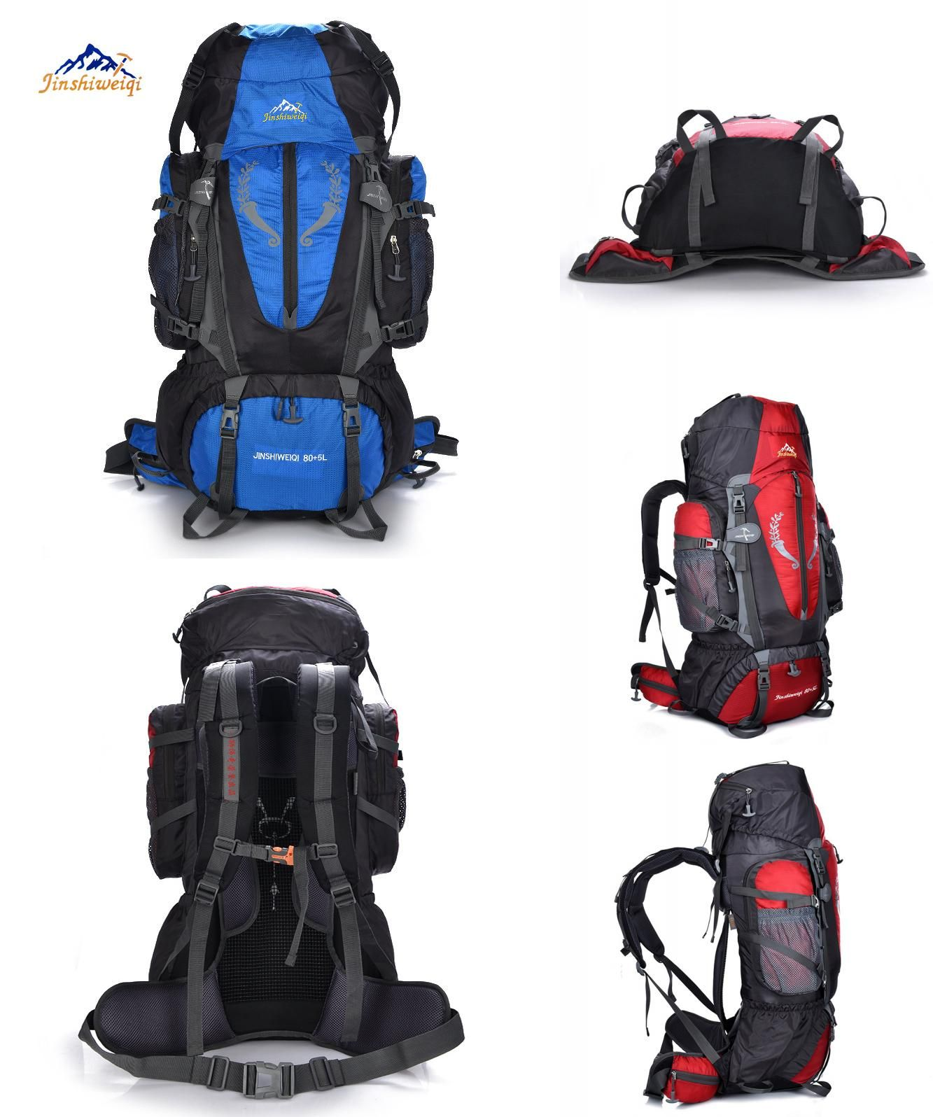 9e0818b00774  Visit to Buy  JINSHIWEIQI Large capacity Rucksacks camping sports bags 85L  Outdoor Backpack Travel