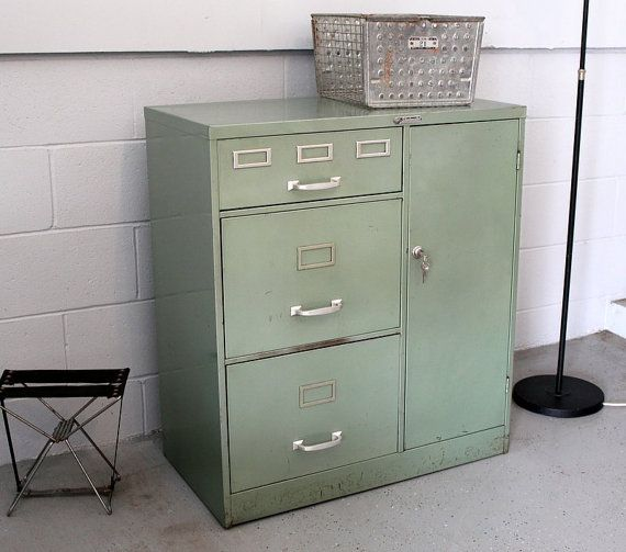 Steelmaster Green File Cabinet With Side By Humemaze