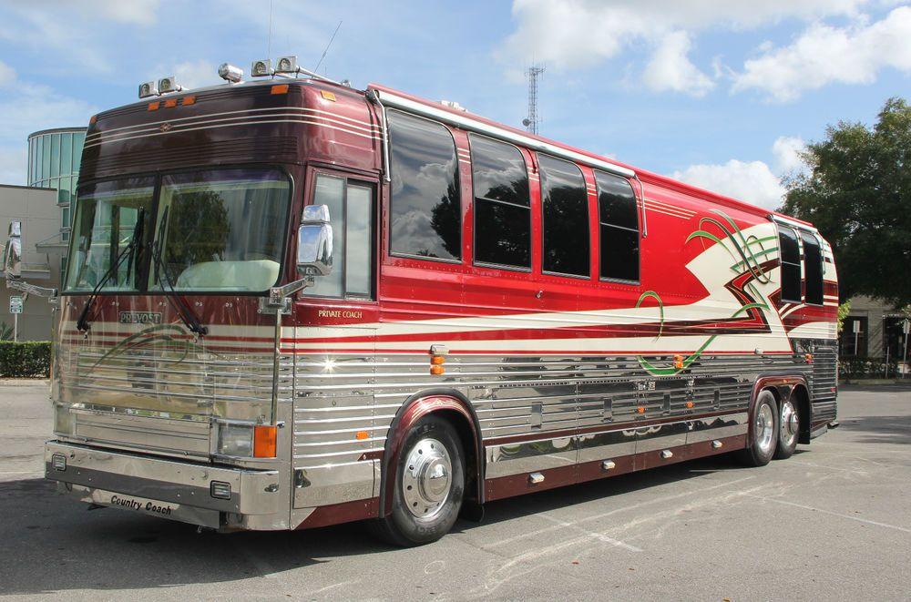 1999 Prevost Xl 25th Anniversary Country Coach Motorhome Travels Prevost Bus Prevost