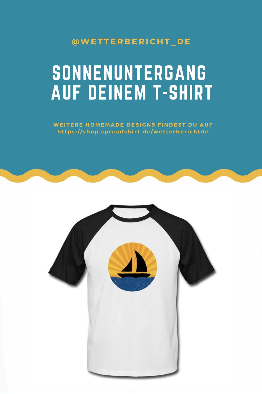 Dieses Shirt verkörpert Sommer-Vibes! Du sprudelst vor sommerlicher Hitze. Du spürst die warmen Sonnenstrahlen der untergehenden Sonne auf deiner Haut. Das Motiv zeigt ein Segelboot, das in den Sonnenuntergang segelt. #segeln #boot #segelboot #wasser #meer #sonnenuntergang #sonne #sommer #kleidung #mode #baseball Baseball-Shirt #herren #damen #männer #frauen #shirt #tshirt #t-shirt #hemd