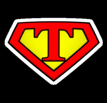 SUPER T Logo Shield by Adam Campen
