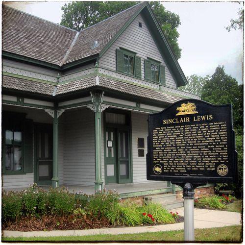 Minnesota L Sinclair Lewis Grew Up In Sauk Centre His