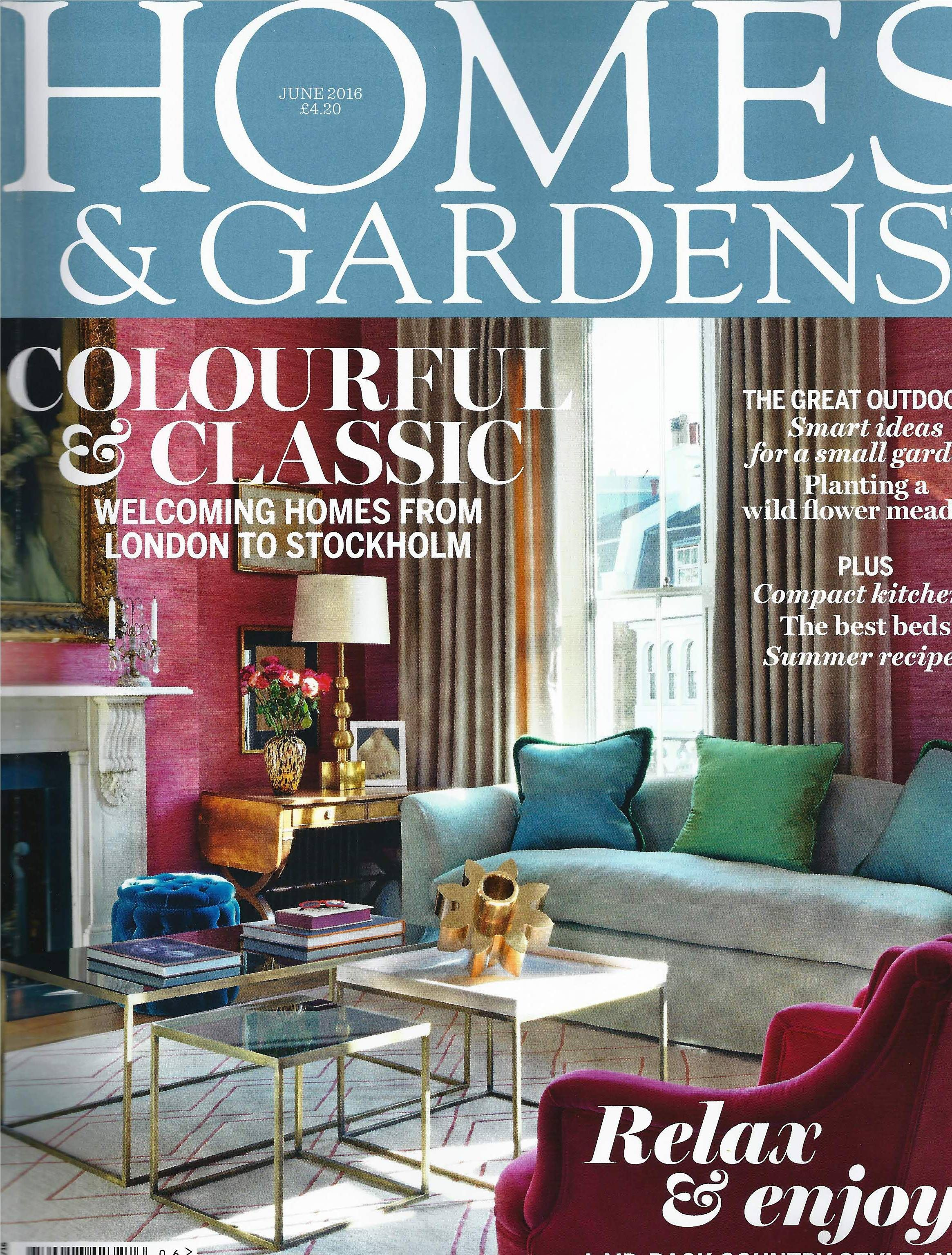 The Hardwick Table Lamp lands June's Homes & Gardens cover