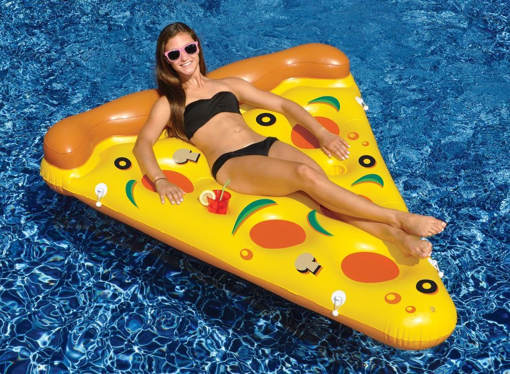 Details about Swimline 90645 Pizza Slice Inflatable Giant Swimming ...
