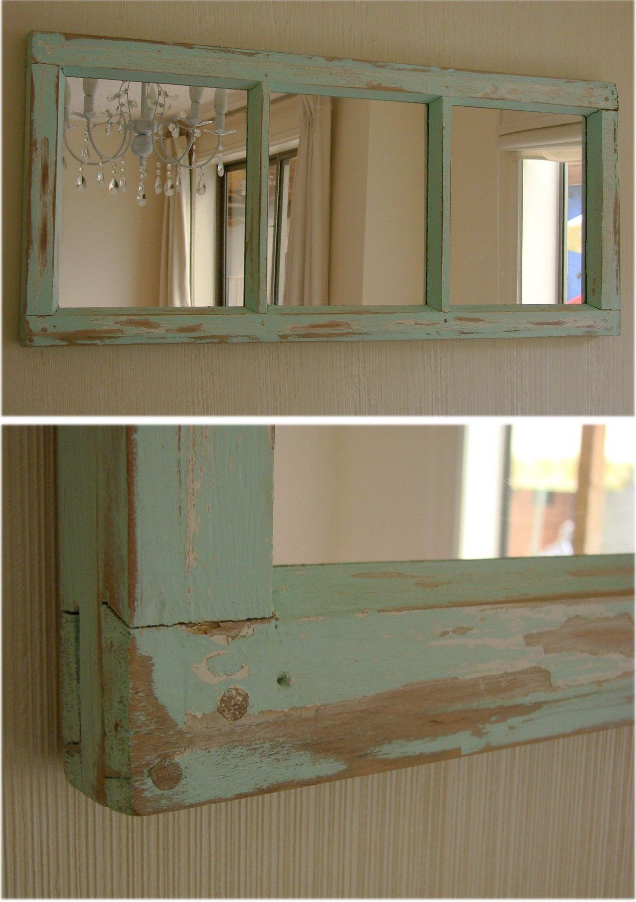 ventana reciclada con espejos espejos con marcos