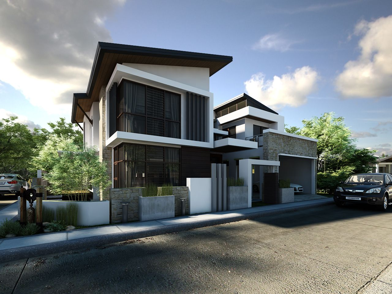 Modern Architecture Render 3d-external-render-of-2-story-house (1280×960) | renders