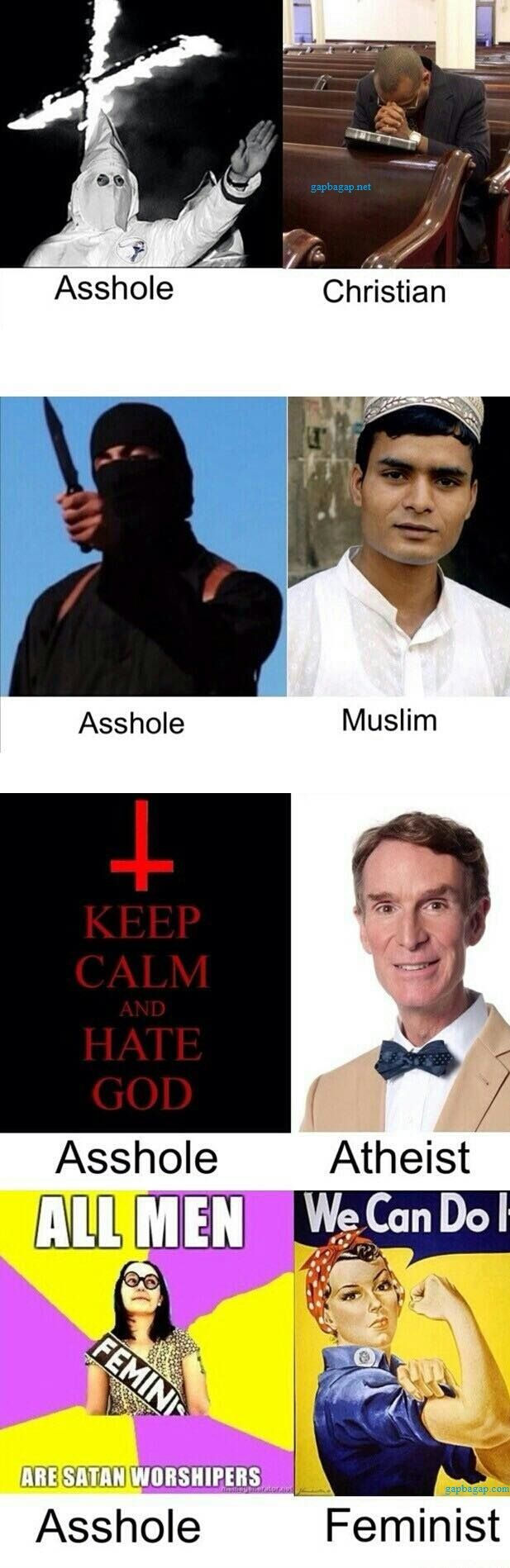 Funny Memes About Religions vs. Assholes