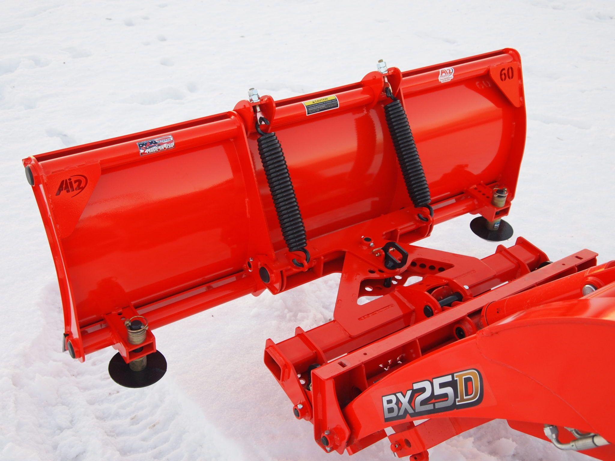 Kubota BX Quick attach snow plow attachments - BxAttachments