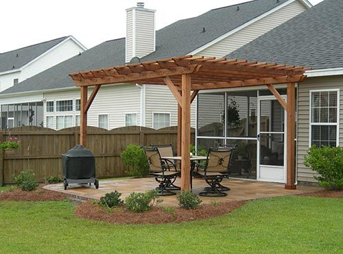 Woodworking Supplies Atlanta, Diy Pergola On Concrete Patio, Wall .