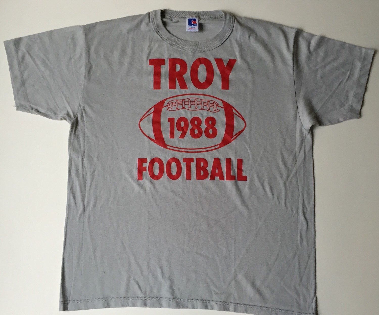 A personal favorite from my Etsy shop https://www.etsy.com/listing/278607218/troy-football-shirttroy-football-shirt