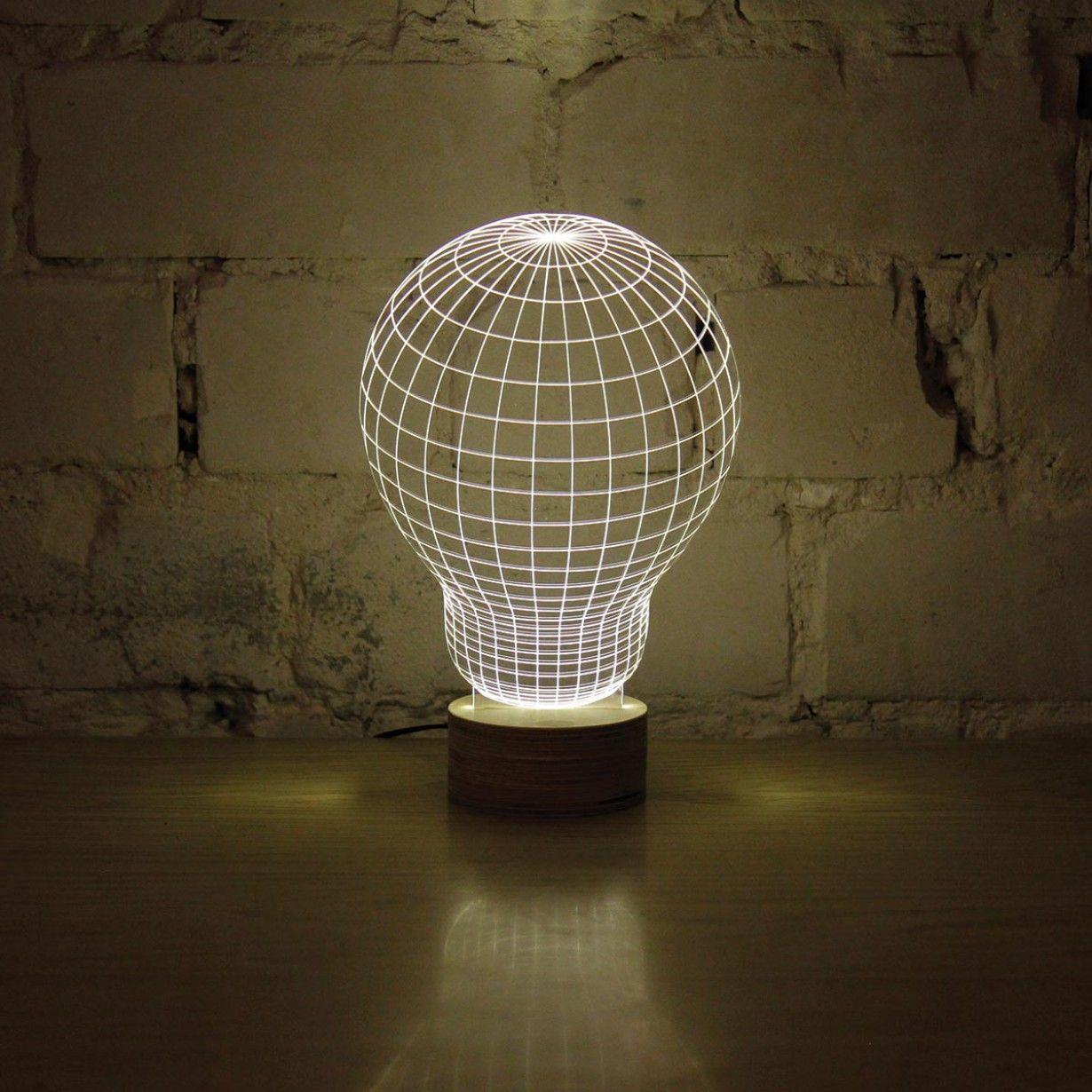 Bulbing Gluhbirne Led Leuchte Mit 3d Effekt Fablife Led Leuchten Led Gluhbirne