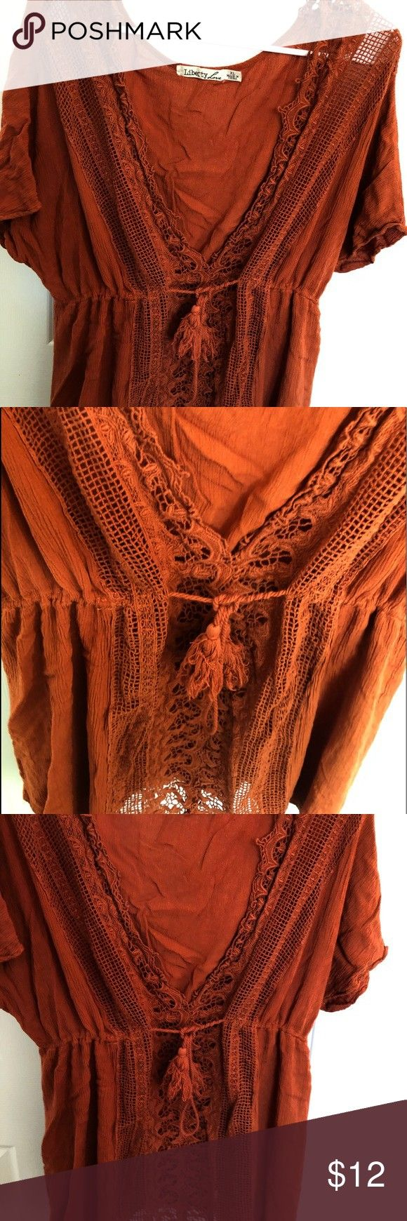 top You can wear it to the beach Wear a tank top under this top Liberty Love Swim Coverups Source by ittsruby coverupsOrange top You can wear it to the beach Wear a tank...