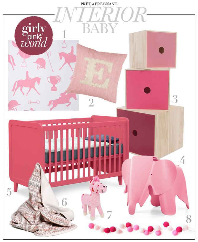 Girly Pink Nursery Decor: Baby Interior: Girly Pink World. Looking For Inspiration