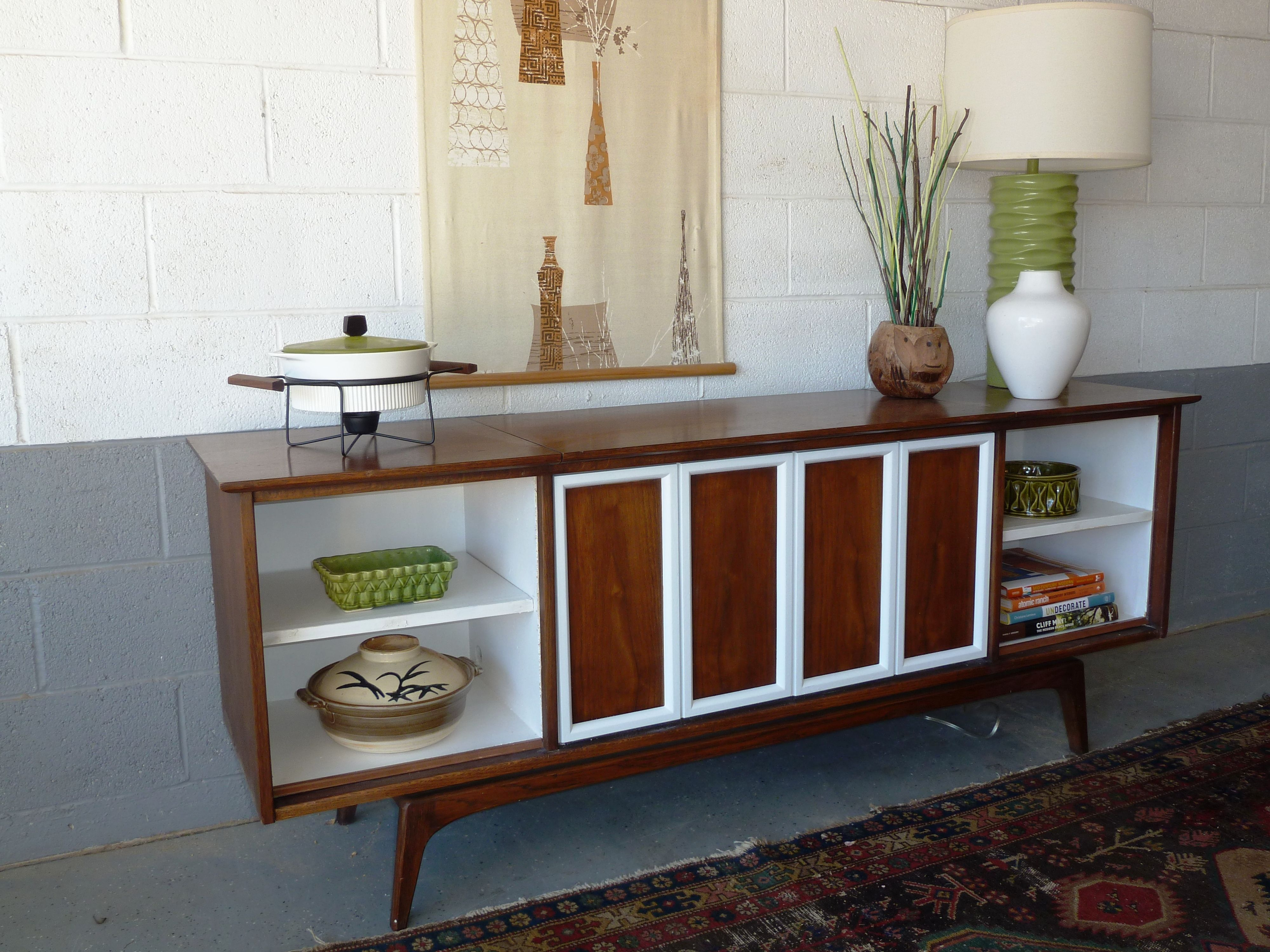 """Here is the """"after"""" of the Sears console stereo I converted to a"""