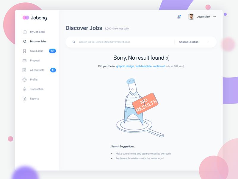 Search Job Error Page Error Page Job Page Job