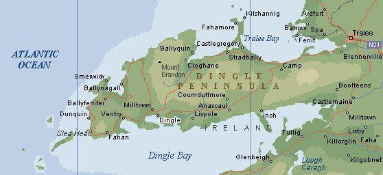 Dingle Bay Ireland Map.Dingle Peninsula Self Drive Map Ireland Scotland Driving Maps