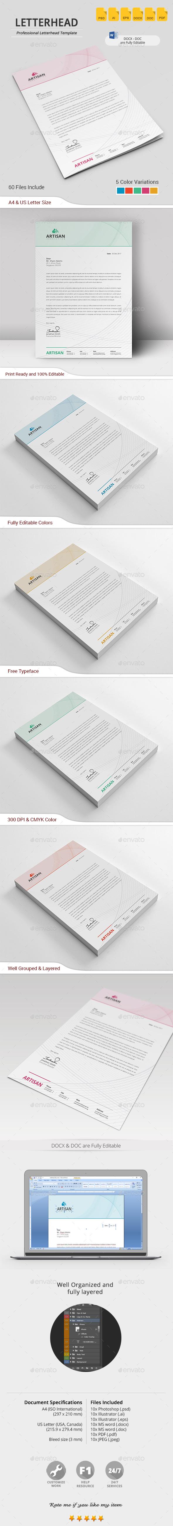 Letterhead — Photoshop PSD #template #paper • Download ➝ https ...