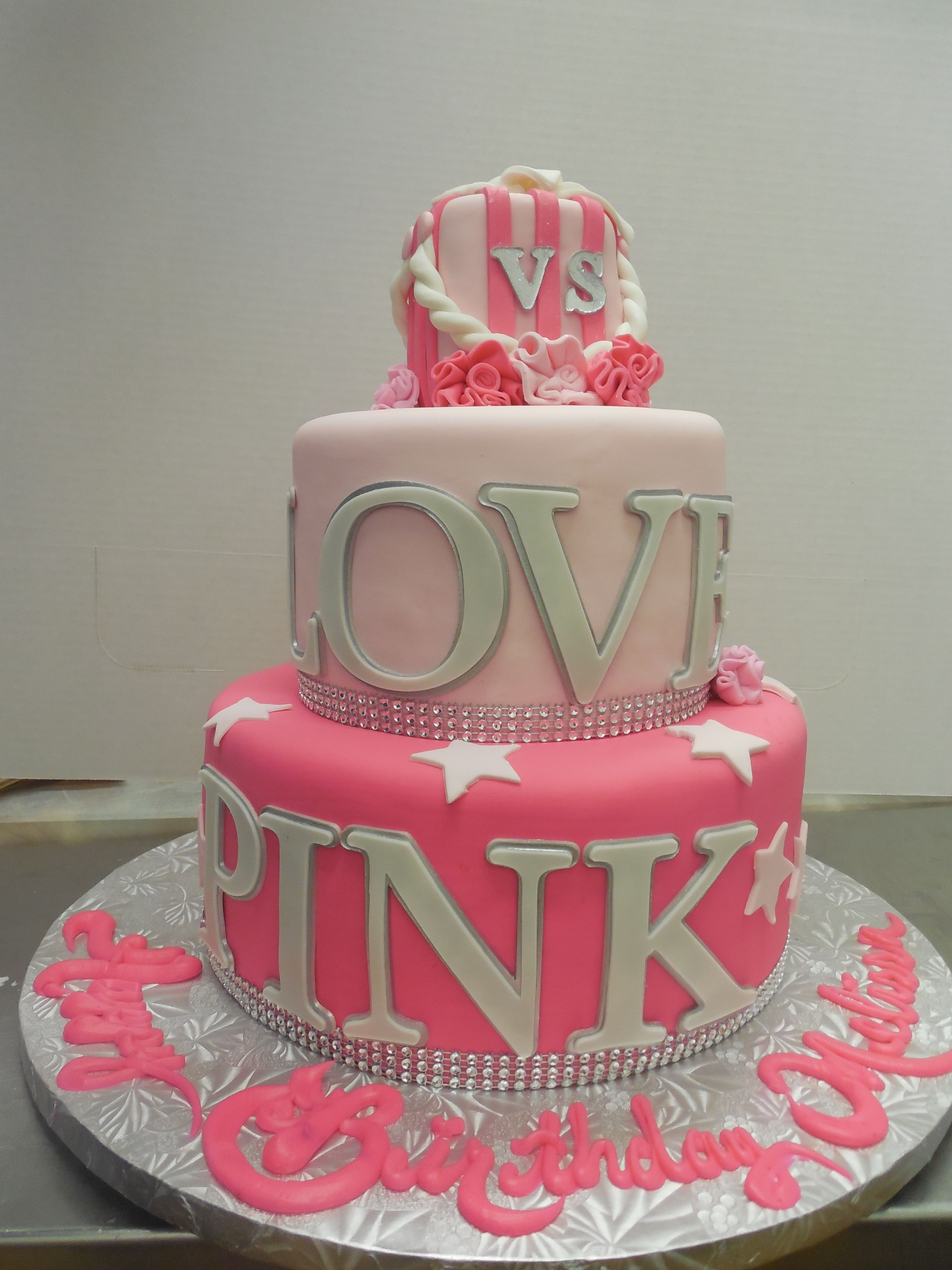 Calumet Bakery Love Pink Vs Birthday Cake Fondant Birthday Cakes