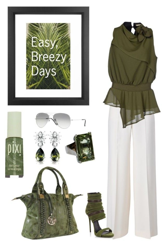 """Easy day..."" by djwords ❤ liked on Polyvore featuring STELLA McCARTNEY, No-Nà, Giuseppe Zanotti, Dot & Bo, Ray-Ban, Pixi and Collette Z"