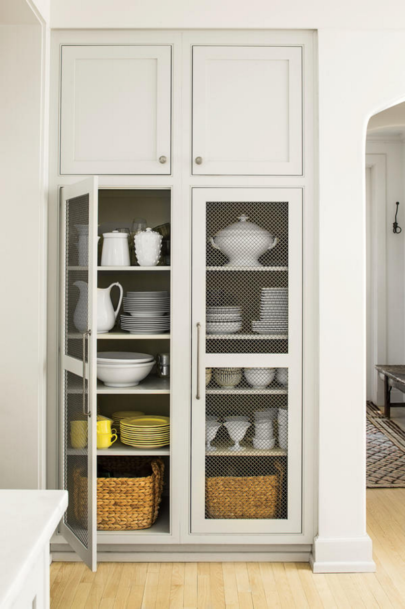 Trends We Love Wire Mesh Cabinets Studio Mcgee Natural Kitchen Chicken Wire Cabinets Cabinet