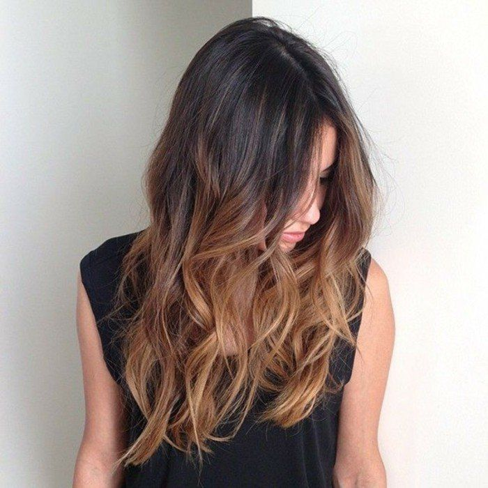 Balayage blond ou caramel pour vos cheveux ch tains balayage hair cuts and hair style - Balayage pour brune ...