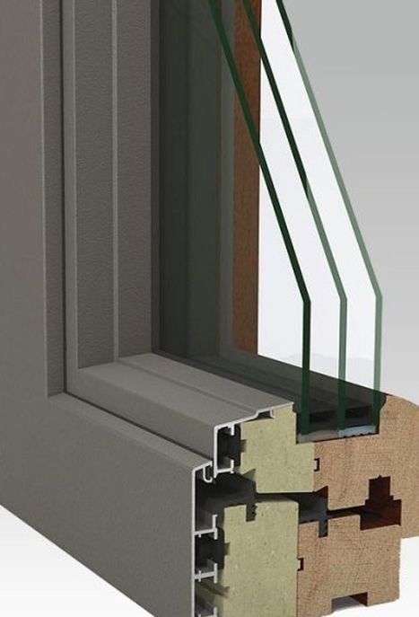 Fenetre en aluminium a triple vitrage
