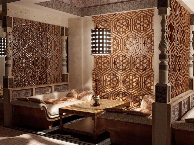 Arabic interior style dining room design arab islamic for Dining room in arabic