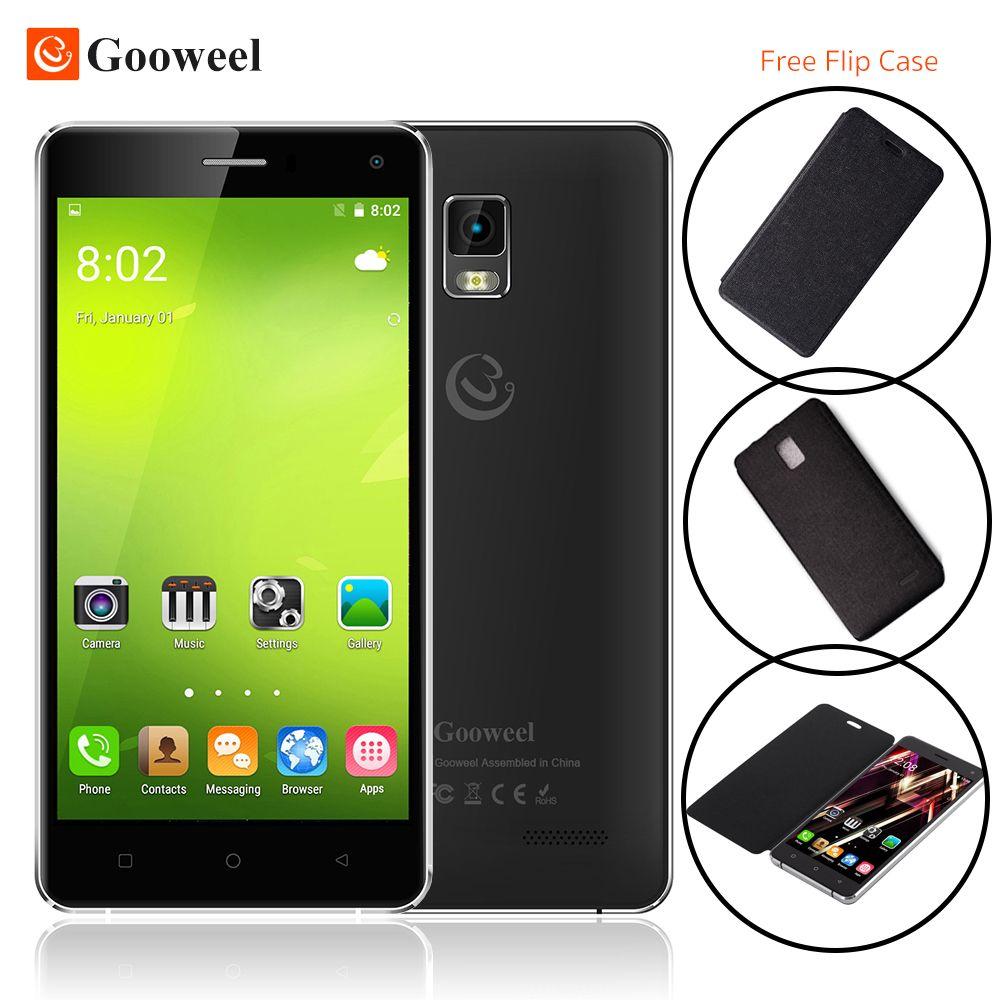"""Gooweel m13 più 4g smart phone 5.0 """"HD dello schermo Quad core android 5.1 mobile cell phone GPS 8MP macchina fotografica 1 GB + 8 GB Caso di Vibrazione Libero"""