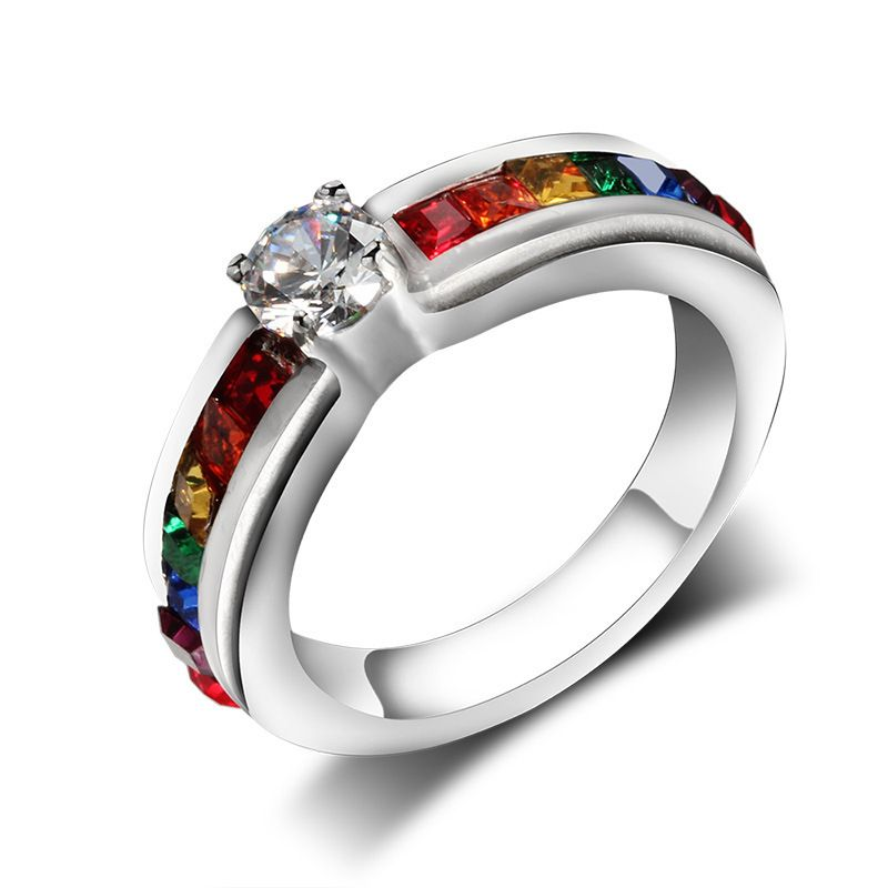ring women lesbian rings gay pride lgbt wedding jewelry rings - Lgbt Wedding Rings