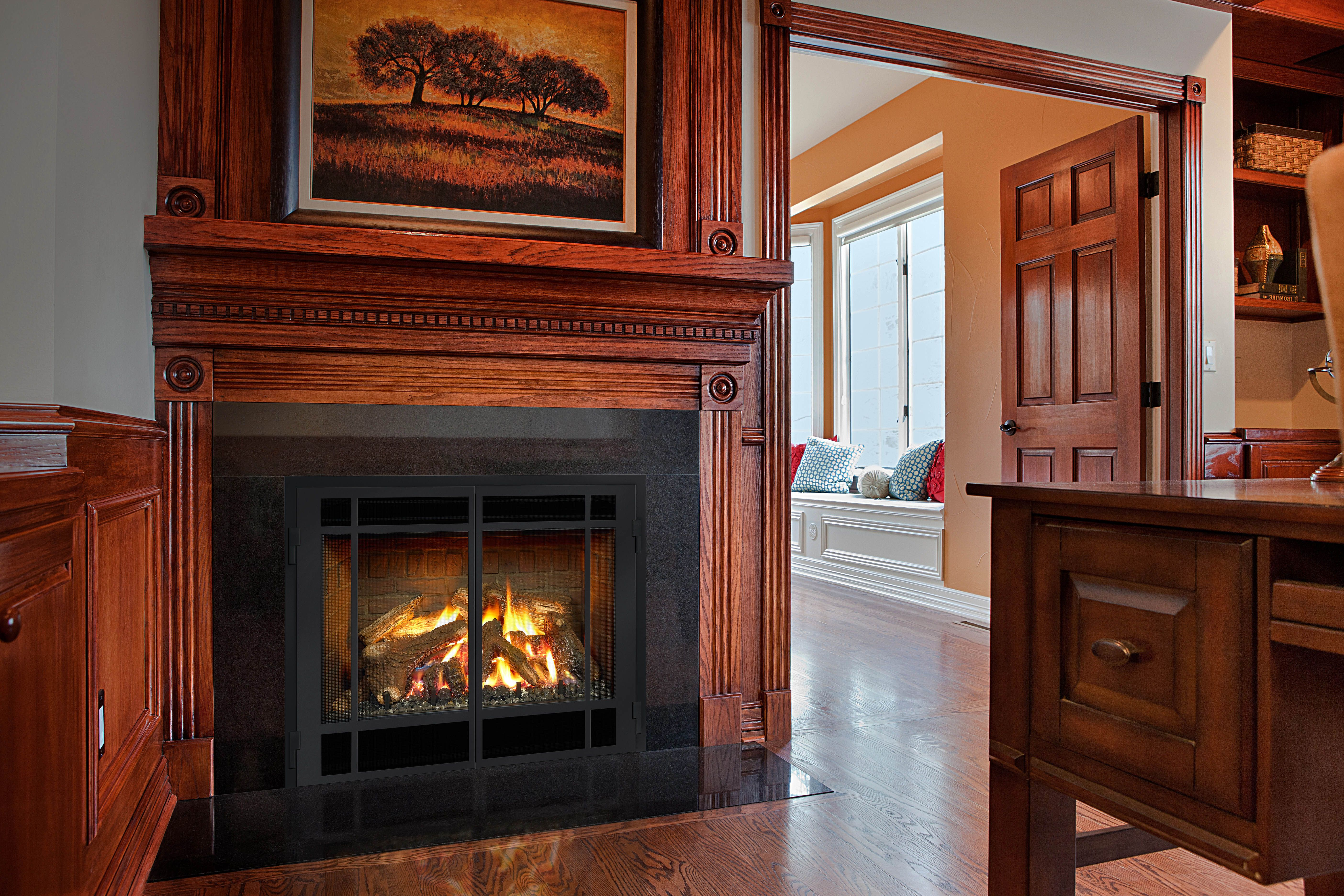 Swell Traditionally Sound The Dxv Mendota Hearth Gas Fireplace Is Download Free Architecture Designs Sospemadebymaigaardcom