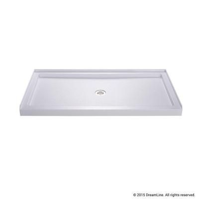 Dreamline Slimline 36 In X 60 In Single Threshold Shower Base In