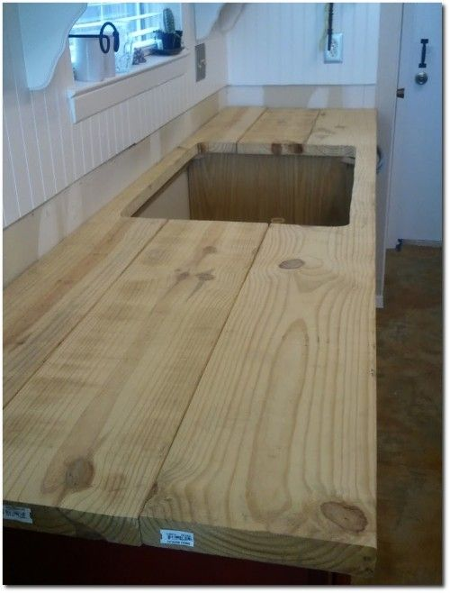 Faux Butcher Block Counter Top Excellent Tutorial Diy Wood