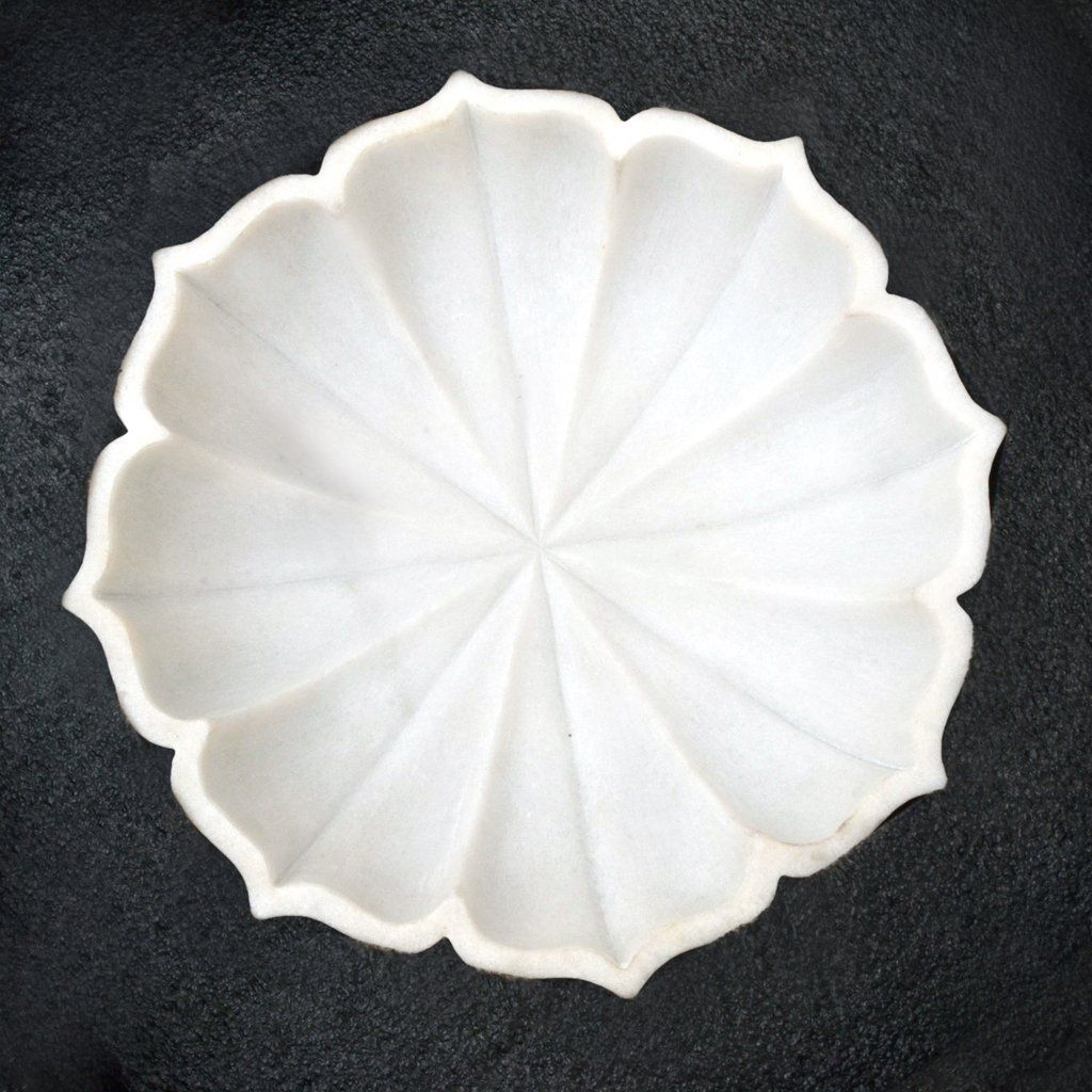 Willart Table Top Decorative 12 Inch Handmade Marble Petal Serving Bowl For Fruits Salad Kitchen Home Decor Handicra Table Top Marble Tables Living Room Marble