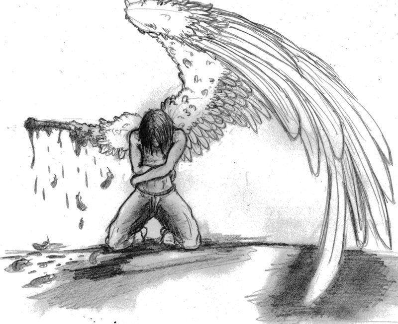 Broken Angel Angel Sketch Angel Wings Drawing Cool Art Drawings
