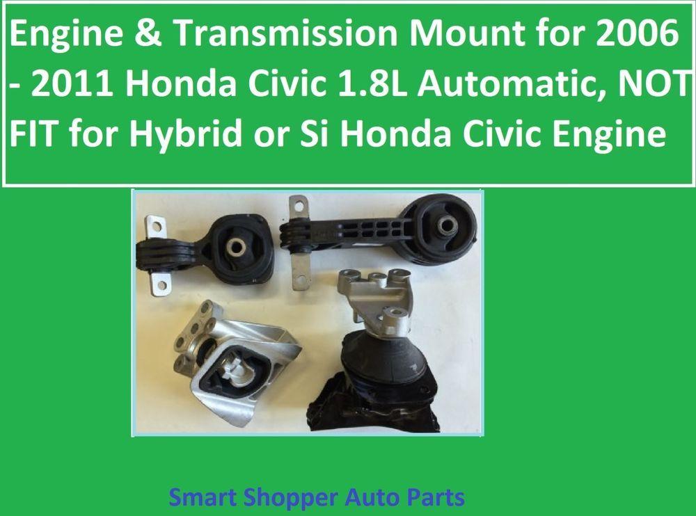 Engine Transmission Mount For 2006 2011 Honda Civic 1 8l Not Fit Hybrid Si Ci Aftermarketproducts 2011 Honda Civic Honda Civic Transmission