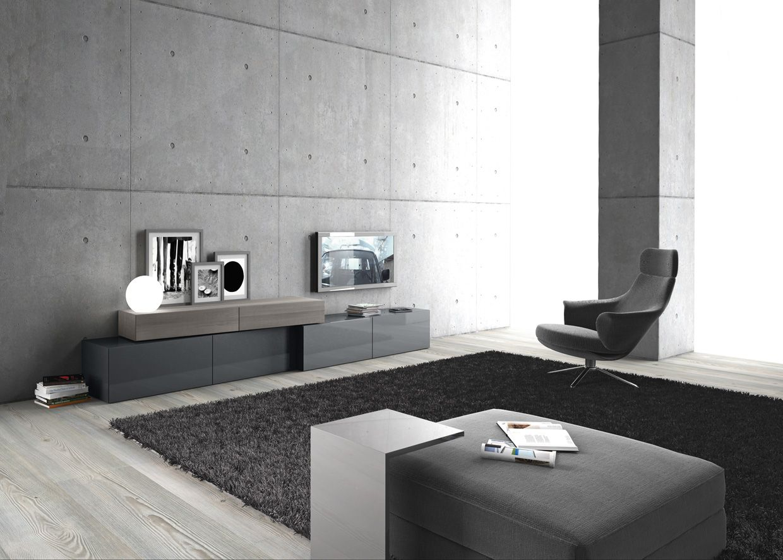 Presotto floor standing base units in gloss grigio for Presotto industrie mobili spa