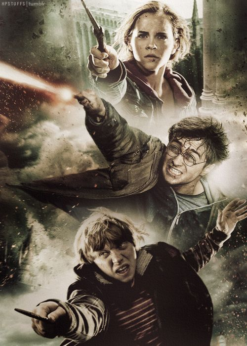The Golden Trio And On A Sidenote This Just Happens To Be Pin 1 000 On This Board Harry Potter Art Harry Potter Fandom Harry Potter Pictures
