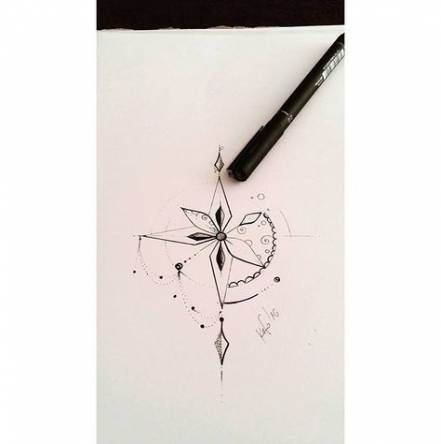 Super Tattoo Women's Wind Rose Ideas