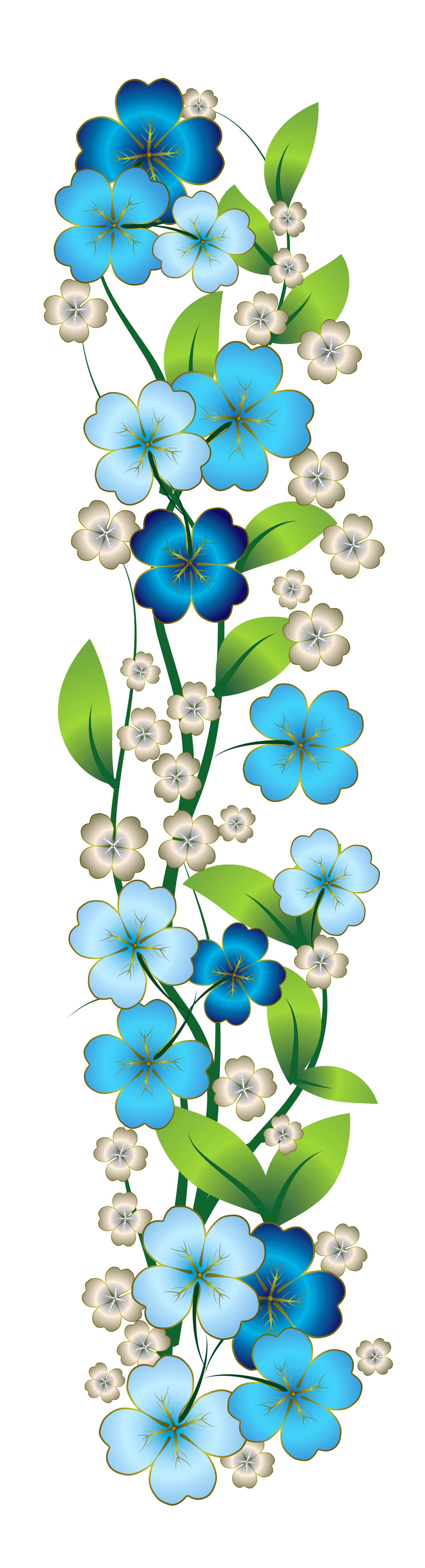 Blue Flower Decor PNG Clipart | laminas decoupage ...