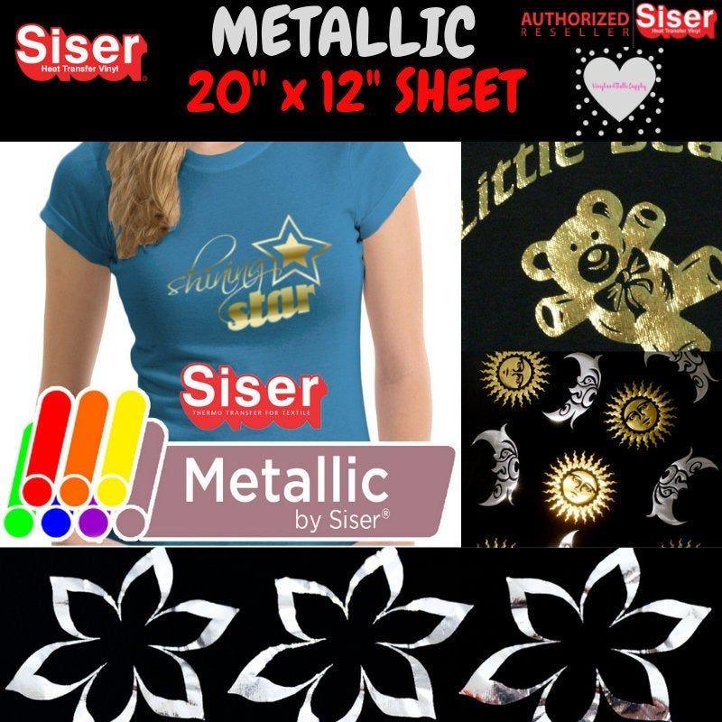 Siser Metallic Heat Transfer Vinyl 20x 12 Roll Etsy Siser Heat Transfer Vinyl Siser Easyweed