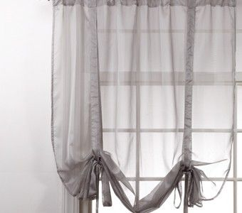 Curtain Bath Outlet Lucky Stripe Sheer Curtain Tie Up