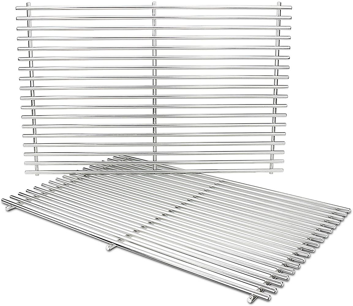 Grisun 7528 Cooking Grates For Weber Genesis 300 19 5 Inch 304 Stainless Steel Solid Rod Grates Grids Replacement For Gen Gas Grill Wood Pellet Grills Grilling