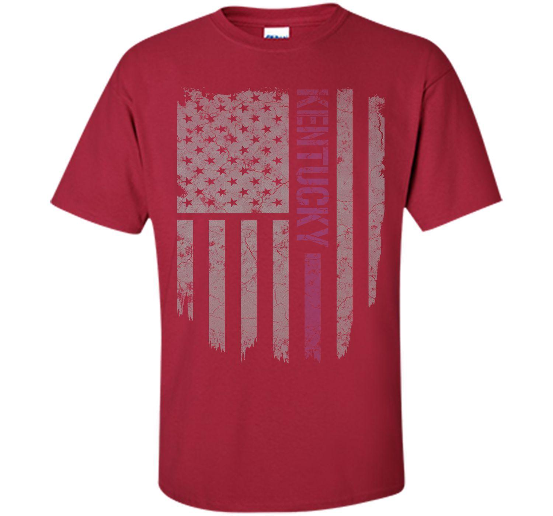Kentucky Thin Blue Line American Flag T-Shirt T-Shirt