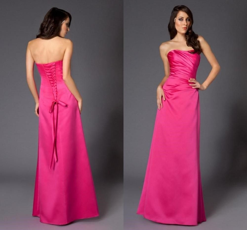 Hot pink lace bridesmaid dresses my bridemaids dresses picks