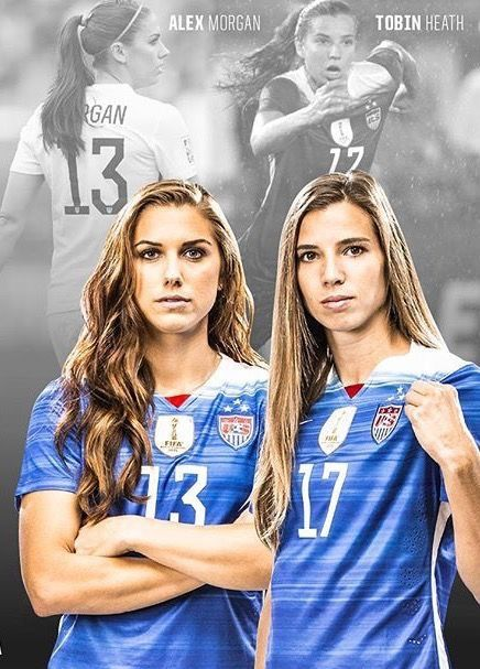 Alex Morgan 13 And Tobin Heath 17 Uswnt Usa Soccer Team Usa Soccer Women Female Soccer Players