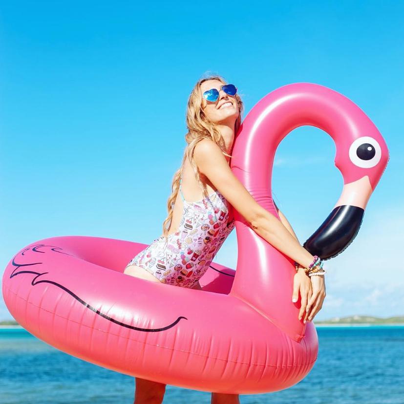 Giant Pink Flamingo Pool Float Com Imagens Boia De Flamingo