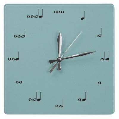 The Original Music Note Clock Band nerd Music notes and Wall clocks