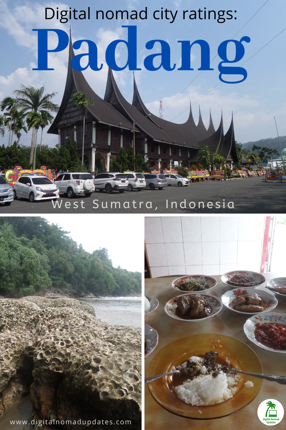 How good is Padang in West Sumatra for digital nomads? Check out my rating in ten categories. #padang #digitalnomads #westsumatra #indonesia